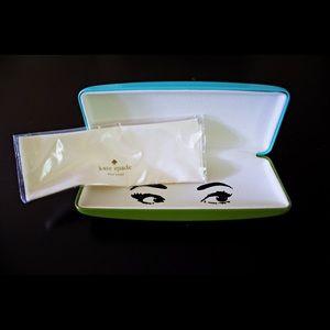 Kate Spade New York Teal & Olive Eyeglasses Case